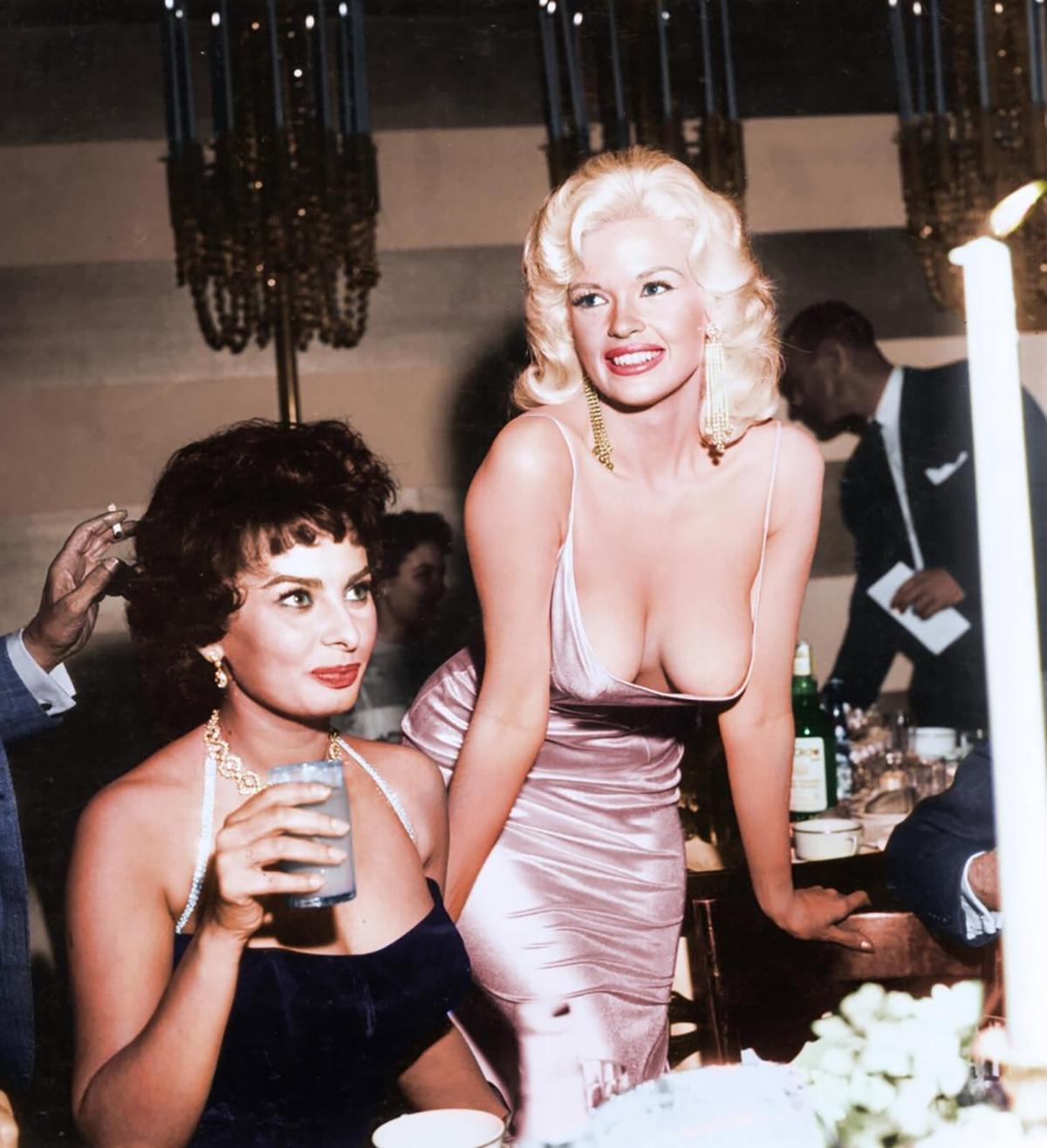 Sophia Loren and Jayne Mansfield, 1957. Courtesy of 20th Century Fox publicity arvhives