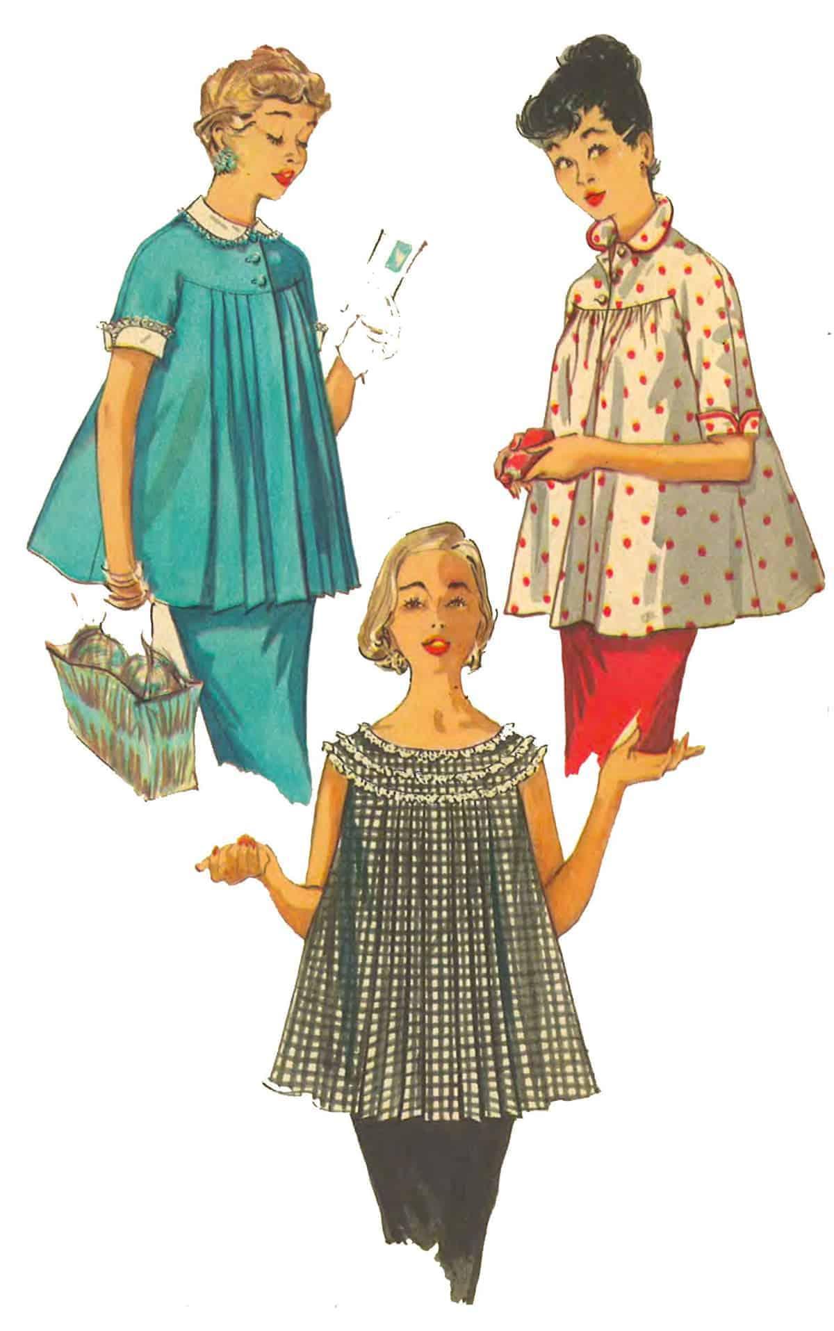 Maternity fashion, 1950s