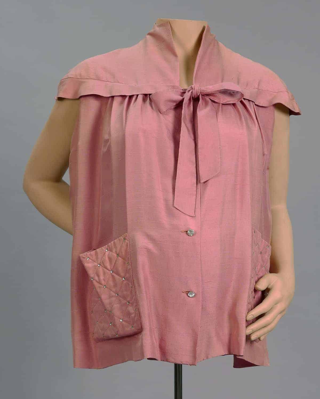 Page Boy silk maternity top. 1950s. Courtesy of UNT Digital