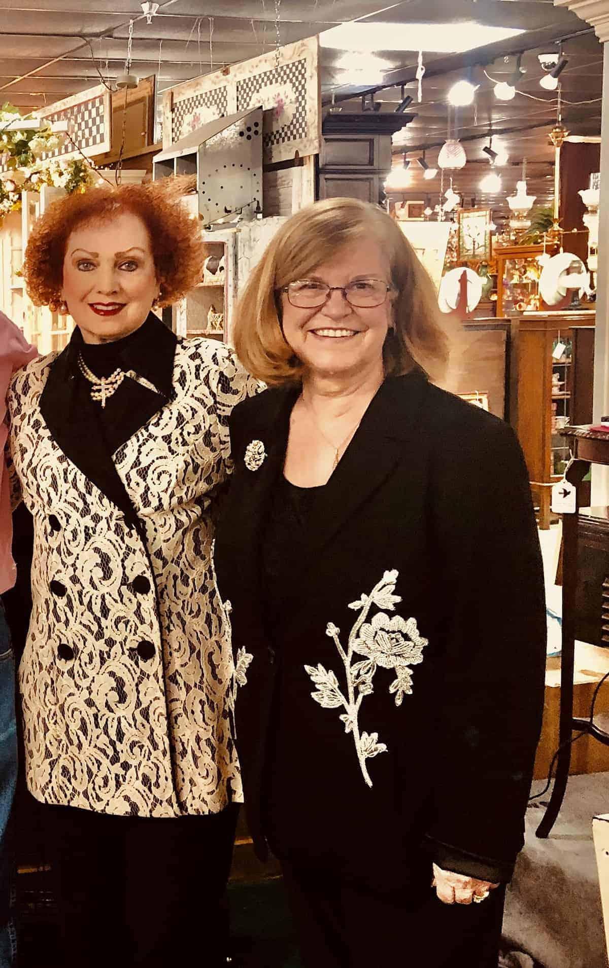 Sandy Bassett and Ruth Linhart