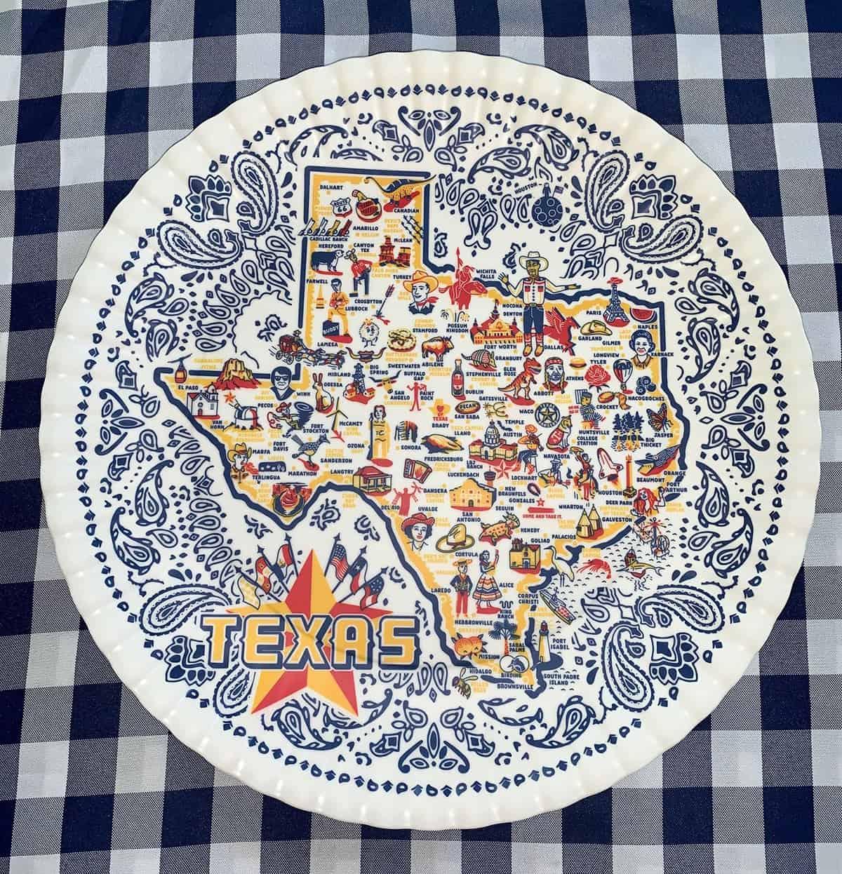 Texas large Melamine Tray, $28. At ShopKSW.com