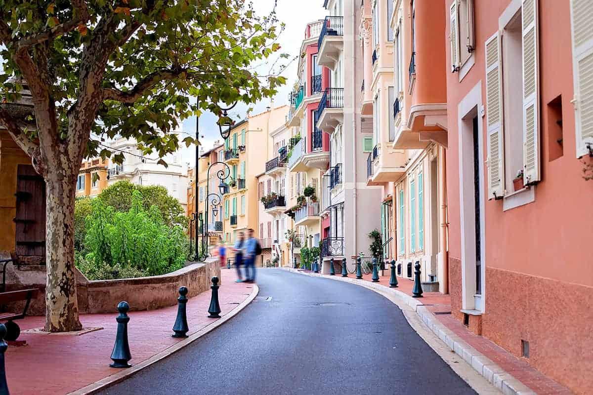Street in Monaco Village in Monaco Monte Carlo