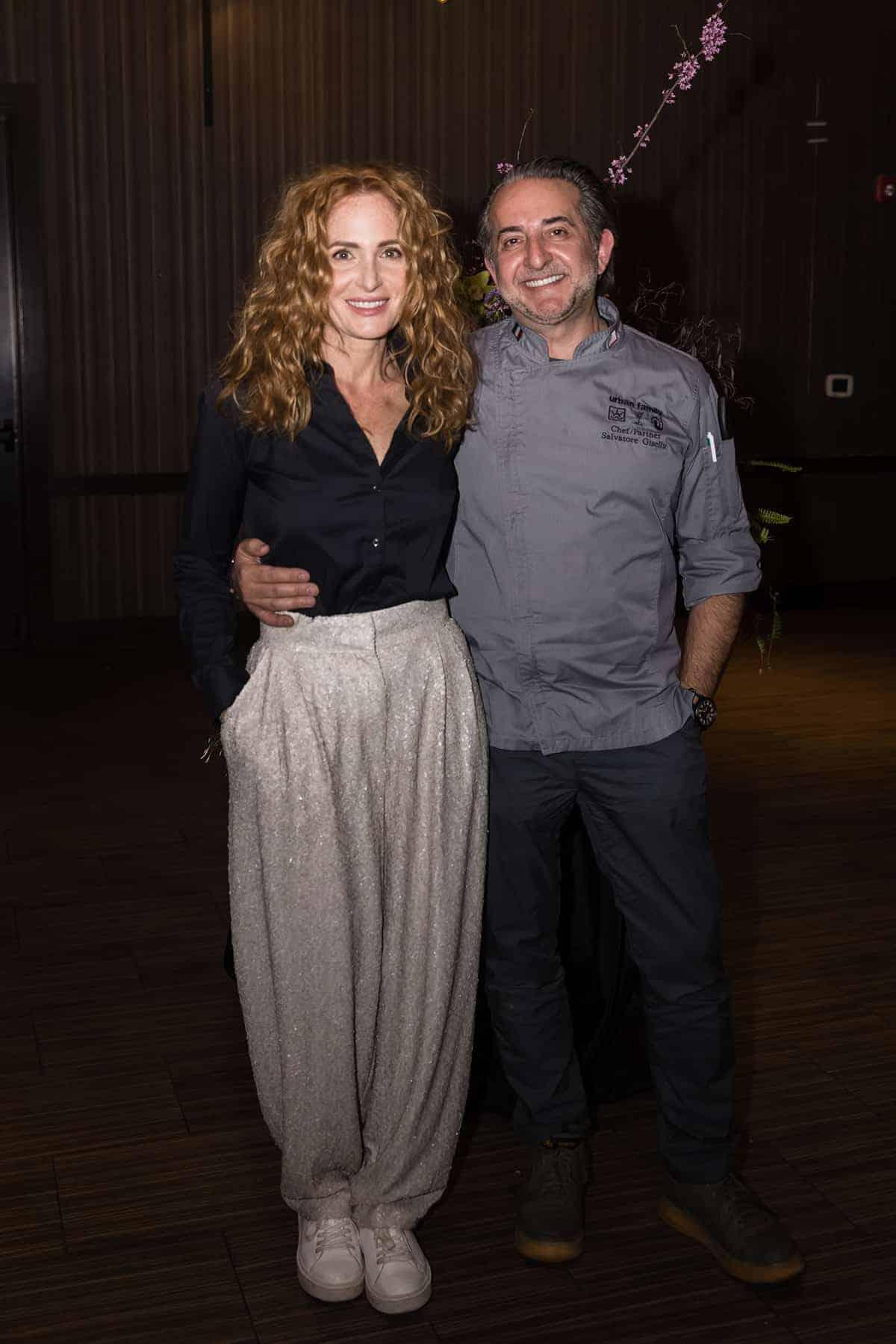 Jeanne-Marie and Chef Salvatore Gisellu