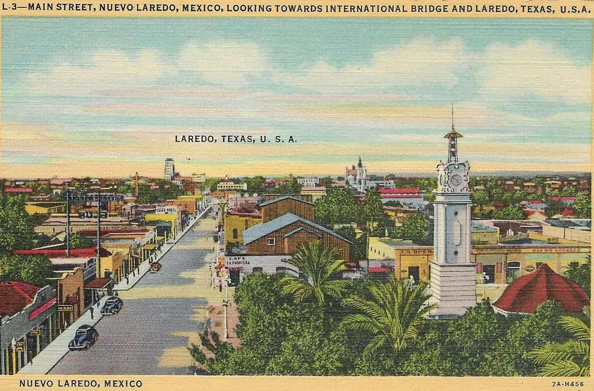 Nuevo Laredo, 1930s postcard. Couresy of Lori Duran
