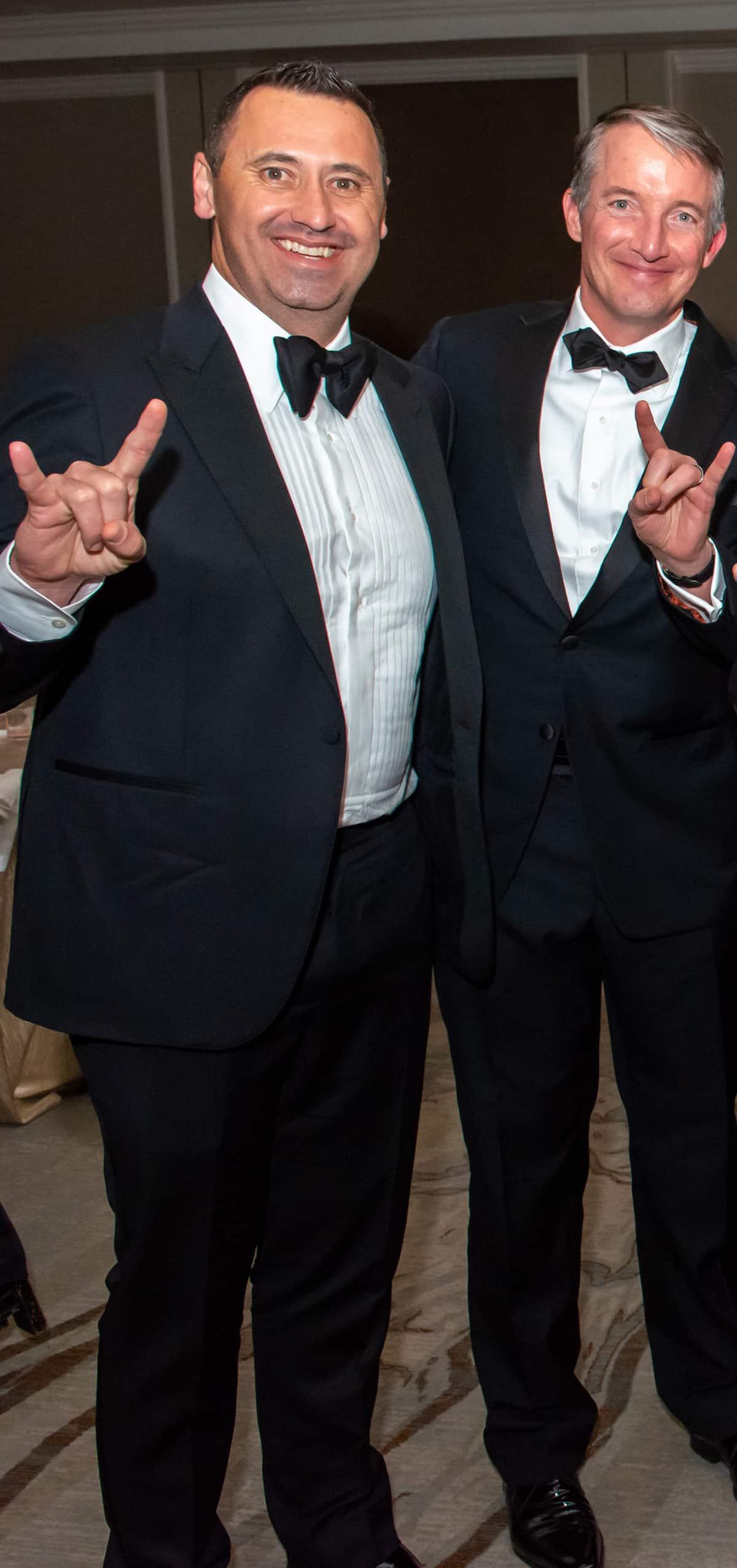 Steve Sarkisian and Jay Hartzell