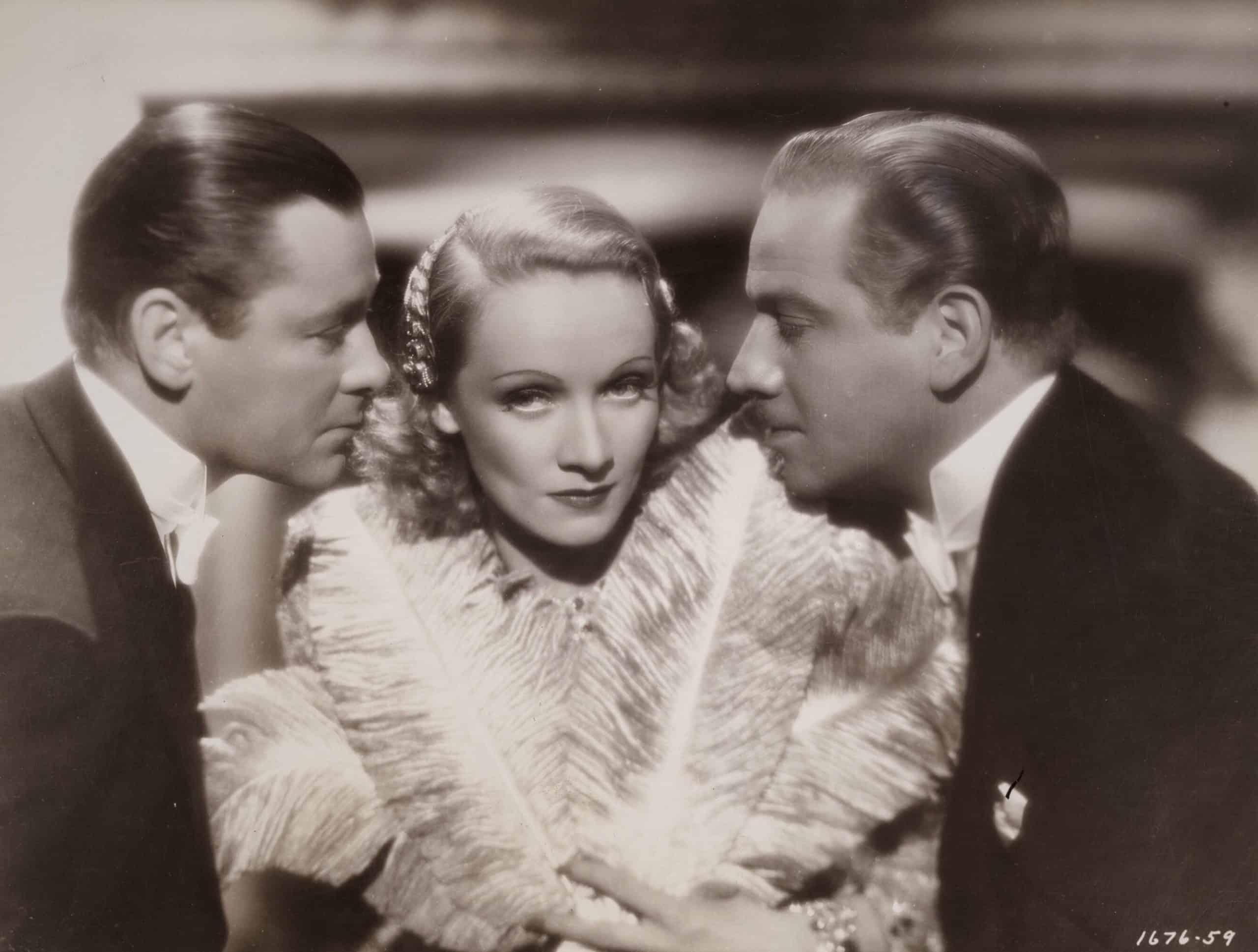 Herbert Marshall, Marlene Dietrich and Melvyn Douglass. Angel. 1937. Paramount Pictures publicity still